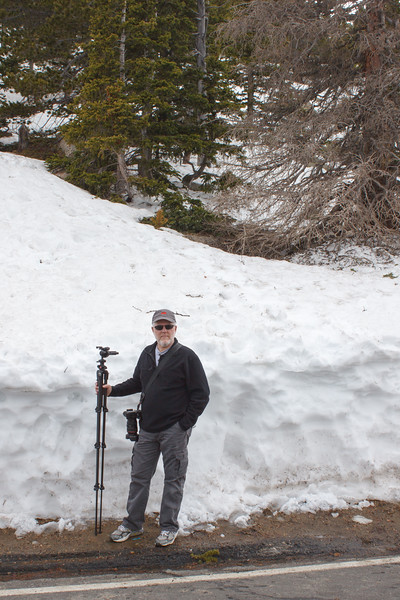 Snow depth along Trail Ridge Road