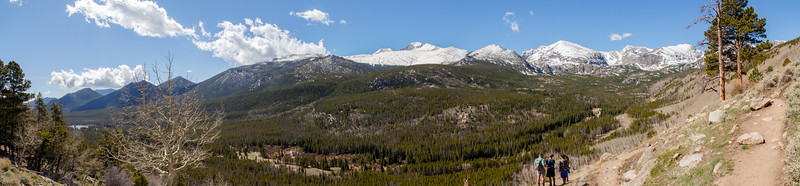 Pano from ~9,000 ft, before we headed back down