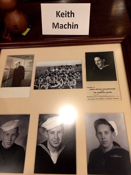Keith Machin_ Navy. Here, a young Machin is seen in his Navy uniform