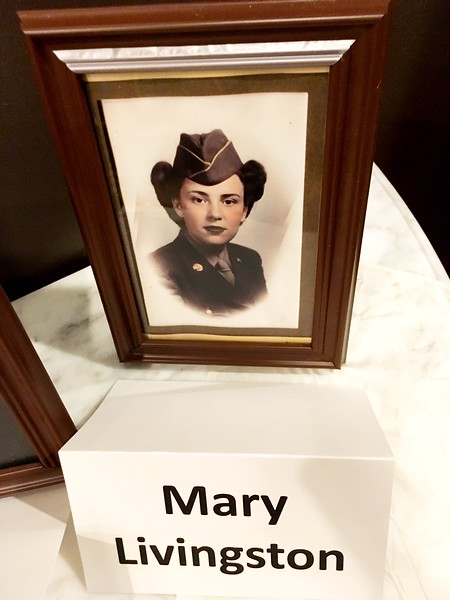 Mary Livingston_ Army.An early picture of Livingston was on display during a dinner celebrating Estes Park's WWII veterans