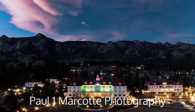 The Stanley Hotel all dressed for Christmas