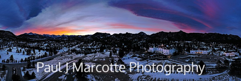 Stanley Hotel Sunset Panorama