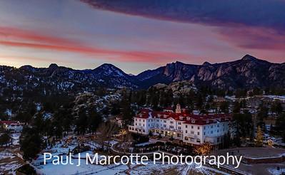 Stanley hotel sunset