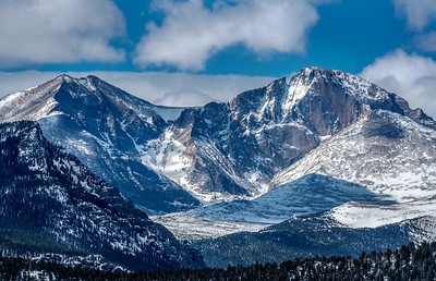 Mount Meeker and Longs peak