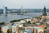 Vista de Riga antiguo y nuevo
