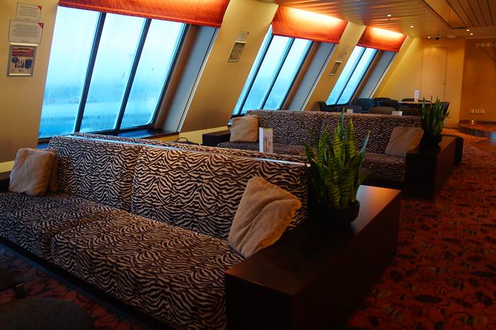 Comfort Class aboard the Tallink Silja Line travelling from Tallinn to Helsinki.