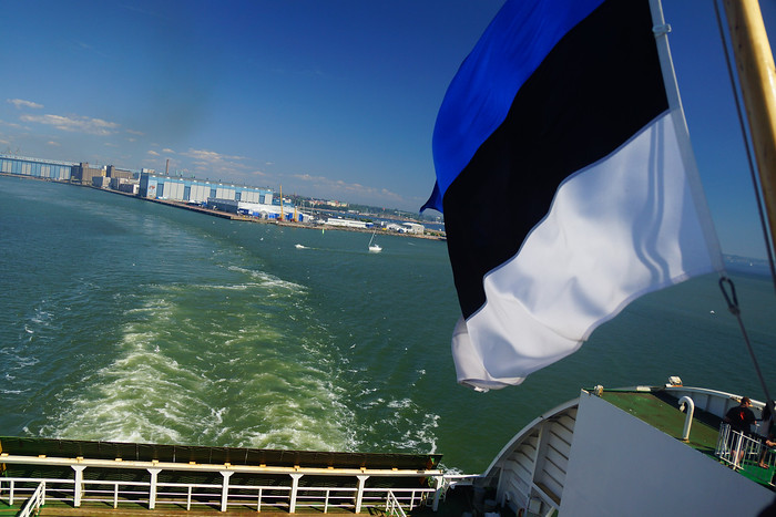 Taking the ferry from Helsinki to Tallinn.