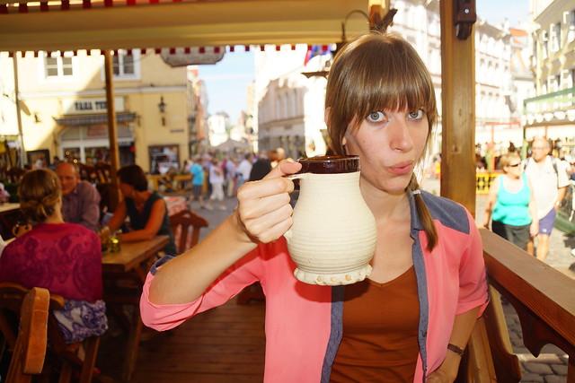 My giant mug of root beer at Olde Hansa in Tallinn.