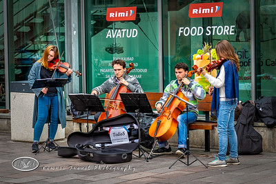 Busking in Riga