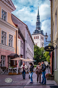A Street Scene in Tallin Estonia