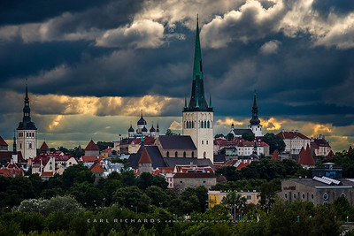 Tallin Estonia Skyline