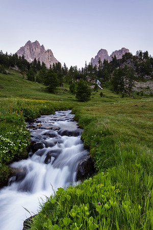 Stream and Mountain