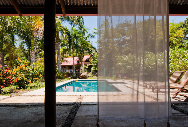 The pool of a river house in Uvita, Costa Rica.
