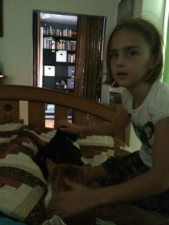 Anya and two kitties.