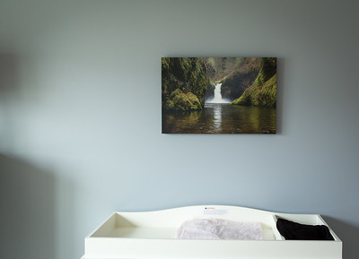 "16x24"" stretched canvas of Horseshoe Falls, Oregon"