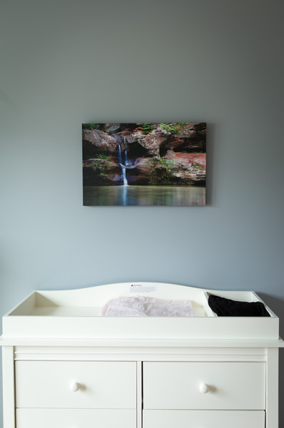 """16x24"""" stretched canvas of the upper falls of Old Man's Cave Gorge - Hocking Hills State Park, Ohio"""