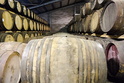 Edradour Distillery whisky barrels