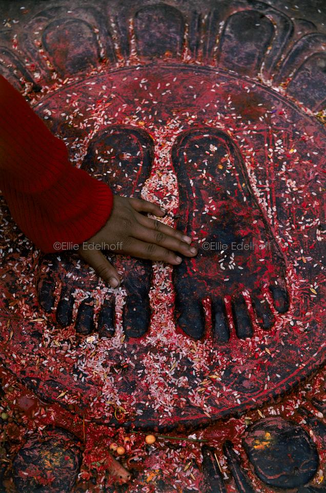 Touching Lotus Feet - Kathmandu, Nepal