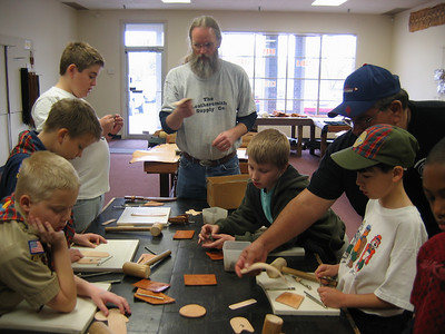 Scouts:  Leatherworking