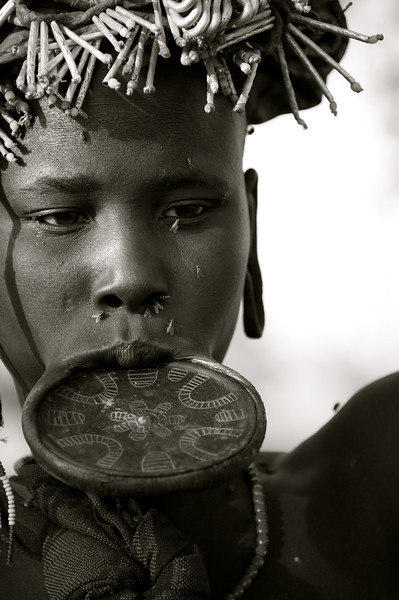 The famed Mursi lip plate