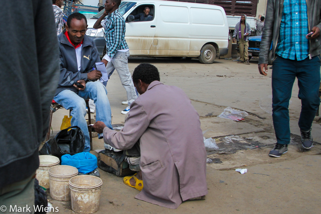Shoe shining in Addis Ababa