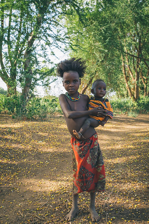 children from the African tribe Dasanesh, Omorate, Omo Valley, Ethiopia