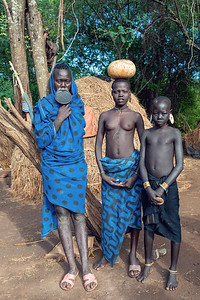 most dangerous African Mursi people tribe, Ethiopia, Africa