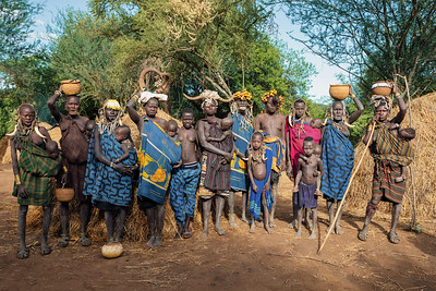 most dangerous African people Mursi tribe, Ethiopia, Africa