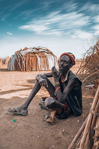 man from the African tribe Dasanesh, Omorate, Omo Valley, Ethiopia