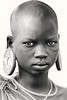 Suri girl with plugged earlobes, Kibish