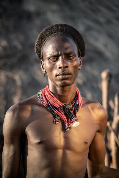 Pose of a Hamar man