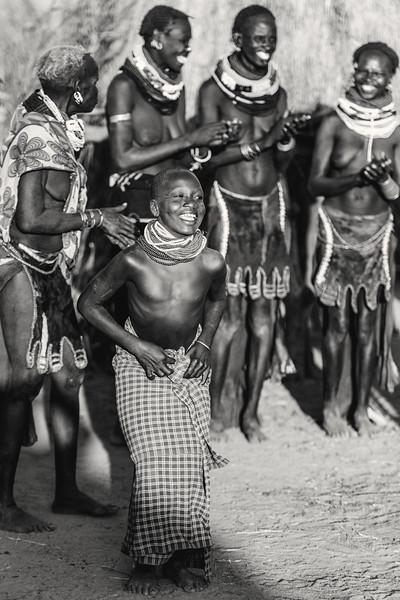 Nyangatom dancing, Omo valley