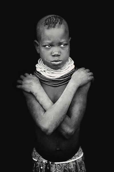 Young Nyangatom girl, Kangaten