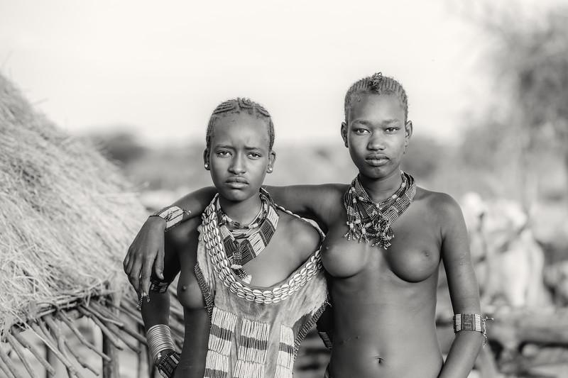 Girls of the Hamar tribe