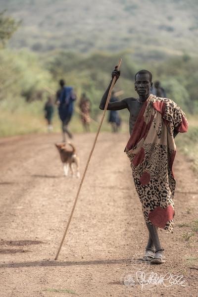 Suri cattle herder