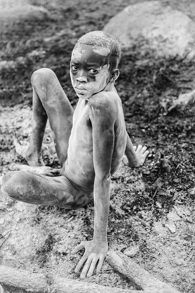 Young Suri herder, Kibish