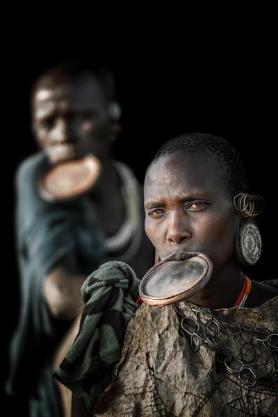 Suri tribes women