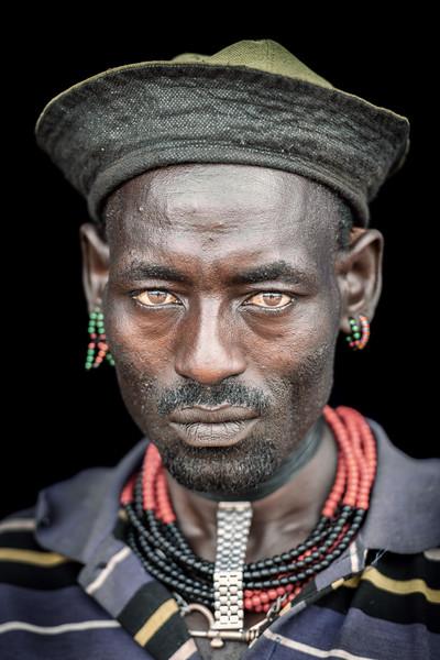 Eyes of a Hamar man