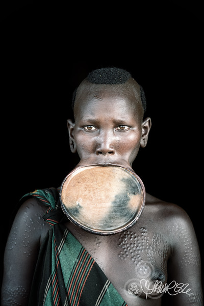 Suri tribes woman with lip plate
