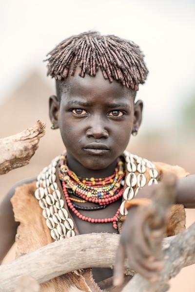 Hamar girl of Turmi attired