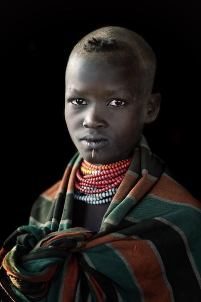 Nyangatom girl beauty, Omo