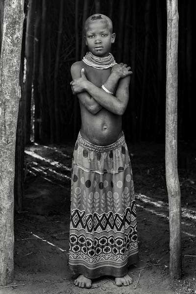 Standing in the doorway, Nyangatom