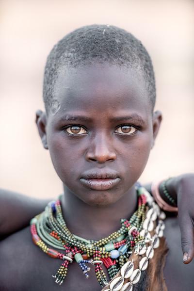Eyes of a Hamar girl