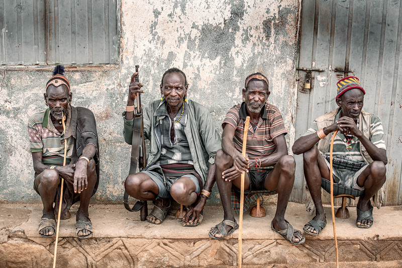 men of the Hamar in Turmi