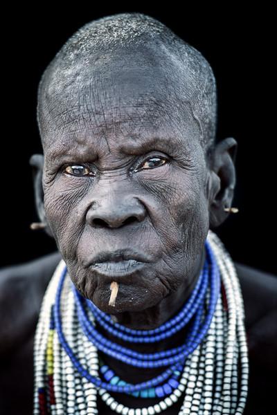 Old Kara tribeswoman