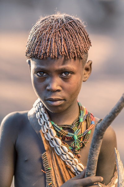 Young Hamar tribesgirl