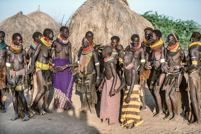 Nyangatom tribeswomen dancing