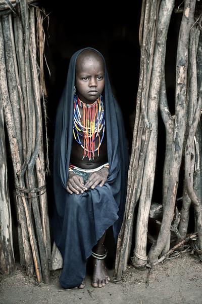 Arbore girl, Lake Chew Bahir