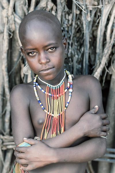 Young Arbore girl Omo valley