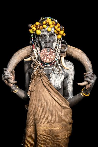 Adorned Mursi tribes woman